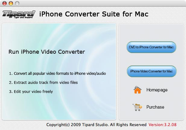 Tipard iPhone Converter Suite for Mac