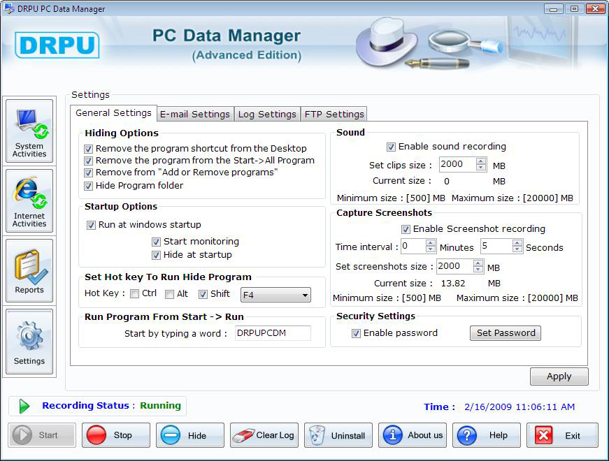 PC Data Manager Keylogger
