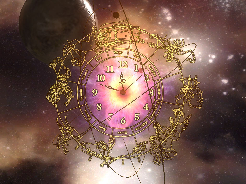 3D Space Clock ScreenSaver