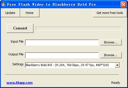 Free Flash Video to Blackberry Bold Pro