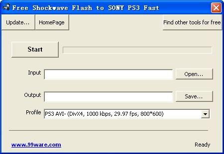 Free Shockwave Flash to SONY PS3 Fast