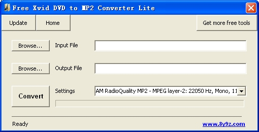 Free Xvid DVD to MP2 Converter Lite
