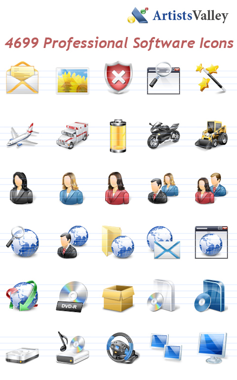 Professional Vista Software Icons